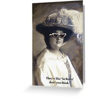 old portrait spoof Greeting Card