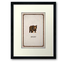 Pixel RPG - Grizzly Framed Print