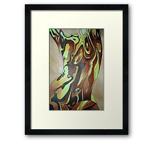 Contemporary Nude Abstract In Brown Framed Print