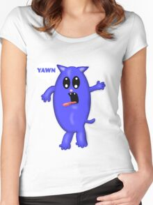 Yawny Cat Women's Fitted Scoop T-Shirt