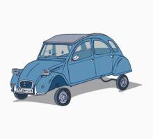 little blue 2cv by johnkratovil