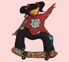 Skater Girl TShirt by Karin Taylor Kids Clothes