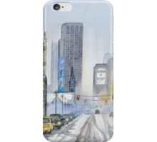 Winter on Woodward Avenue iPhone Case/Skin