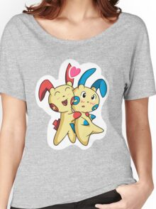 Plusle hearts Minun Women's Relaxed Fit T-Shirt