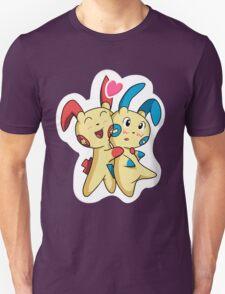 Plusle hearts Minun T-Shirt