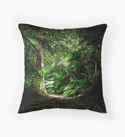 Trekking down Throw Pillow