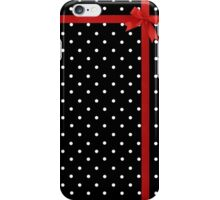 Polka Dot Ribbon iPhone Case/Skin