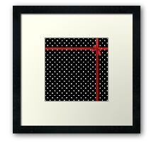 Polka Dot Ribbon Framed Print
