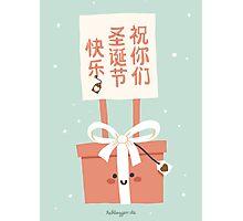 祝你们圣诞节快乐! (Zhu nimen) Sheng Dan Kuai Le! Photographic Print