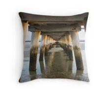 Port Welshpool Jetty Throw Pillow