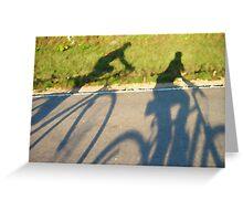 Cycling Shadows Greeting Card