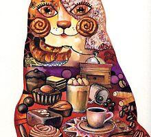 breakfast cat by oxana zaika