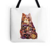 breakfast cat Tote Bag
