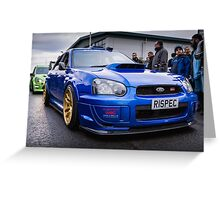 Subaru WRC Greeting Card