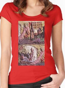 """Exclusive: """" paris """" / My Creations Artistic Sculpture Relief fact Main 39  (c)(h) by Olao-Olavia / Okaio Créations Women's Fitted Scoop T-Shirt"""
