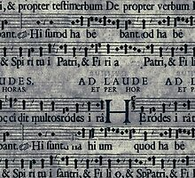 Retro Vintage Music Notes Pattern by sale