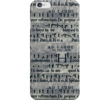 Grunge Music Score Pattern iPhone Case/Skin