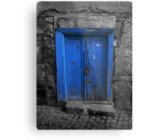 Blue Door In The Castle Metal Print