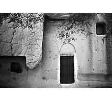 Cappadocian Cave Door (Black And White) Photographic Print