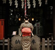 Girl at a temple in Tokyo, Japan by timcostello