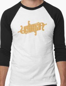 Utopia Ambigram Gold Men's Baseball ¾ T-Shirt