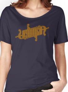 Utopia Ambigram Gold Women's Relaxed Fit T-Shirt