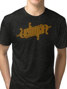 Utopia Ambigram Gold Tri-blend T-Shirt