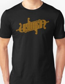 Utopia Ambigram Gold T-Shirt