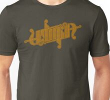 Utopia Ambigram Gold Unisex T-Shirt