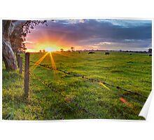 Rural Sunset... Poster