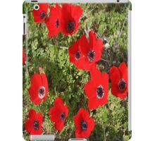 Wild Anemone Flowers In A Spring Field  iPad Case/Skin