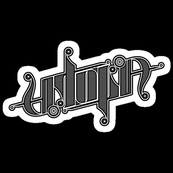 Utopia Ambigram by timcostello