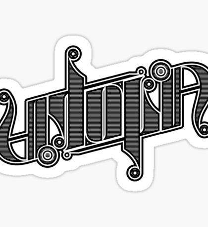 Utopia Ambigram Sticker