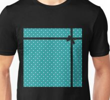 Blue Polka Dot with Black Bow Unisex T-Shirt
