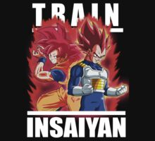 Train Insaiyan - Goku & Vegeta God  by ManiacalHyena18