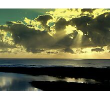 TWIN RAYS OVER THE INLET Photographic Print