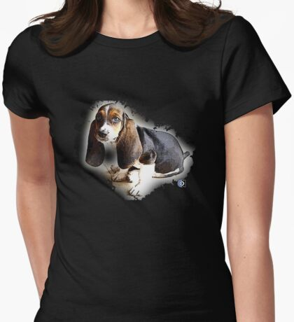 little hound family Womens Fitted T-Shirt