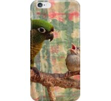 Everybody Needs A Little Encouragement - Sparrow & Parrot - NZ iPhone Case/Skin