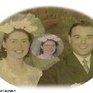 Mr Mrs Guibal's Wedding Day 1940s by Baron John Guibal J P PhD Dip