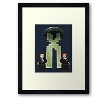 The BriX-Files Framed Print
