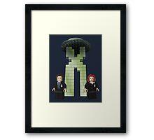 The BriX-Files Framed Print
