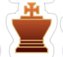 Chess - Brown square Sticker