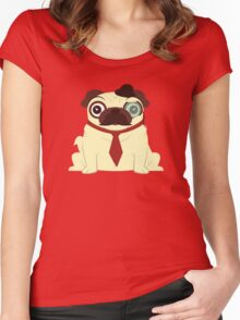 Pug in a Hat Women's Fitted Scoop T-Shirt