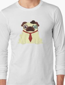 Pug in a Hat Long Sleeve T-Shirt