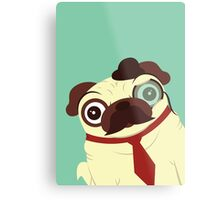 Pug in a Hat Metal Print