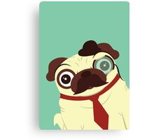 Pug in a Hat Canvas Print