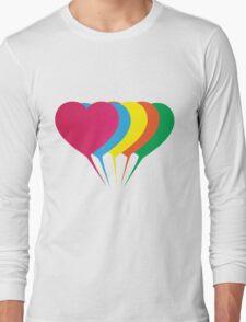 (Girls) Heart Balloons Long Sleeve T-Shirt