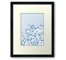 Abstract Cracked Blue Surface Framed Print