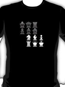 Chess - Black and white blocks T-Shirt