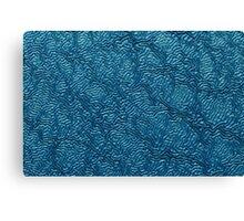 Metal Macro #3 Blue Canvas Print